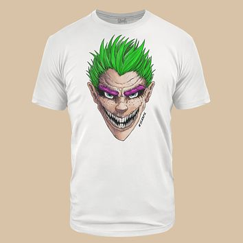 Green Grin White Tri-Blend T-Shirt