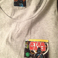"Star Wars ""Darth Vader"" Pocket T shirt. Lucas Film series. Black Tank Top Size Small."