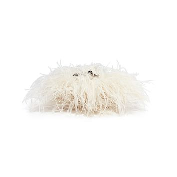 Alexander McQueen | Feather overlay leather knuckle clutch | Women | Lane Crawford - Shop Designer Brands Online