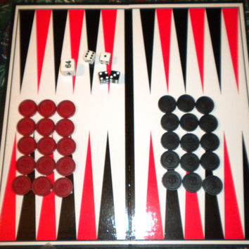 Handmade Backgammon Board Game