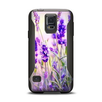 The Lavender Flower Bed Samsung Galaxy S5 Otterbox Commuter Case Skin Set