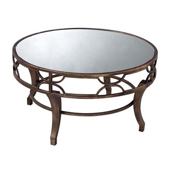 Treviso Coffee Table Antique Gold,Mirror