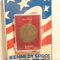 Kennedy Space Shuttle Emblem Vintage Token Tours Souvenir NASA