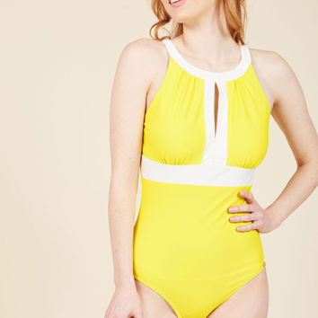 Toes in the Sand One-Piece Swimsuit | Mod Retro Vintage Bathing Suits | ModCloth.com