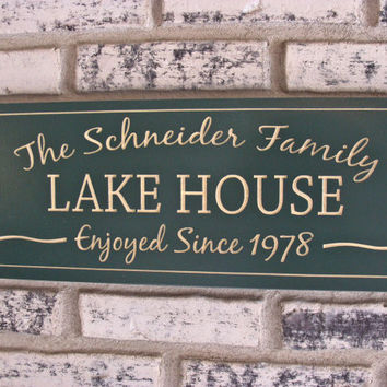 Personalized Carved Sign for the lake house, cabin,or whatever you decide