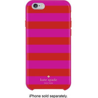 Kate Spade New York Flexible Hardshell Case for Iphone 6 Candy Stripe Pink Red