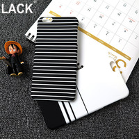 High Quality New Fashion Style black and white Stripes frosted Full Protect Phone Cases For iPhone 6 6s 6Plus 6Splus 5 5S capa