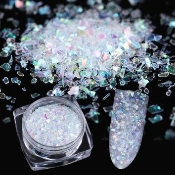 BORN PRETTY Irregular Flakies Nail Sequins 0.7g Colorful Foil Paper Paillette Flakes for Manicure Nail Art Decoration
