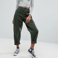 ASOS BREE Combat Pants in Green at asos.com