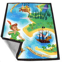 Peter Pan Map Tammie79ca fb58c8fb-83ce-4bbe-bea3-7d950cbbecd1 for Kids Blanket, Fleece Blanket Cute and Awesome Blanket for your bedding, Blanket fleece *02*