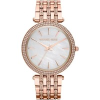 NEW MICHAEL KORS DARCI GLITZ ROSE GOLD TONE LADIES WATCH MK3220