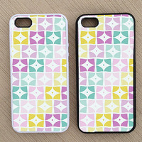 Cute Geometric Abstract iPhone Case, iPhone 5 Case, iPhone 4S Case, iPhone 4 Case - SKU: 137