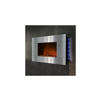 GoldenVantage 36'' Wall Mount Stainless Steel Electric Fireplace