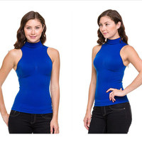 Sleeveless Top with Chest Pinch Detail