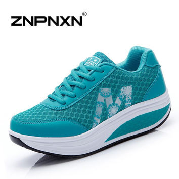 Height Increasing 2015 Platform Shoes Women Causal Shoes Fashion Swing Shoes for Women Wedges Shoes zapatos mujer