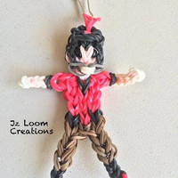 Rainbow Loom Charm - Football Player - Football - Rainbow loom Football - Loom Charm - Loom Band - Bracelet - Necklace Charm - Rainbow Loom