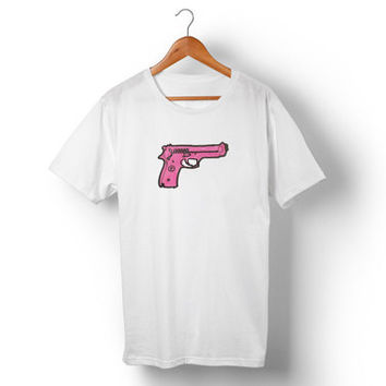 Pink Pistol T Shirt // Made in USA