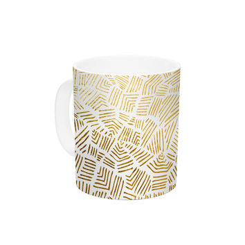 "Pom Graphic Design ""Inca Gold Trail"" Yellow Brown Ceramic Coffee Mug"
