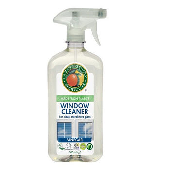 Earth Friendly Window Cleaner with Vinegar - 500ml Spray 100% Biodegradable Recyclable Plastic Bottle