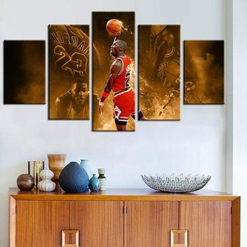 top HD prints wall artwort legend poster basketball famous ttar michael jordan chicago bulls fashion gifts wall art oil painting
