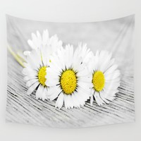 Daisies Wall Tapestry by ARTbyJWP