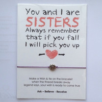 Sisters love card - Card with Hearts Charm bracelet = 1946749764