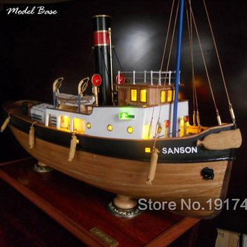Wooden Ship Models Kits Educational Toy Model-Wood-Boats 3d Laser Cut Scale 1/50 Model-Ship-Assembly Sanson 2013 Static Version