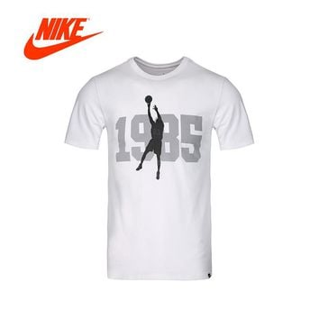 Original New Arrival Authentic NIKE Jordan Mens T-shirts Short Sleeve Male White Leisure Sportswear Breathable Quick Dry Shirt
