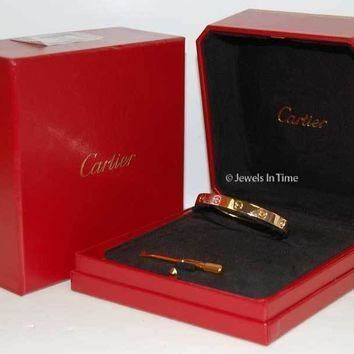 One-nice? Cartier Love Bracelet 16 18k Rose Gold Box/Certificate/Screwdriver NEW B6035