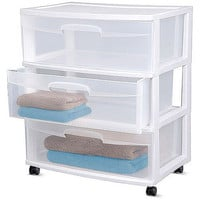 Walmart: Sterilite 3-Drawer Wide Cart