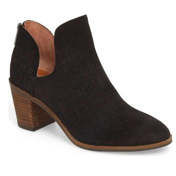 Lucky Brand Powe Black Sacore Heeled Booties