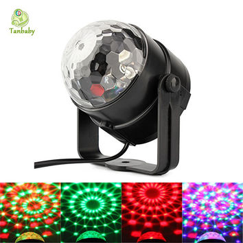 Tanbaby 5W DISCO BALL PARTY LIGHTS Sound Activated Stage Light Show for parties DJ Karaoke Wedding Chrismas Outdoor