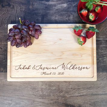 Personalized Cutting Board. Custom Cutting Board. Personalized Wedding Gift. Engraved Board. #6