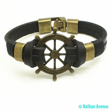 2017 Mens Trendy Leather Bracelet