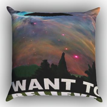 i want to belive x-file movie nebula space Zippered Pillows  Covers 16x16, 18x18, 20x20 Inches