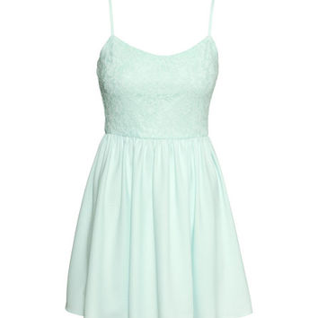 Dress with Lace Bodice - from H&M
