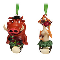 Timon and Pumbaa Bell Ornament Set