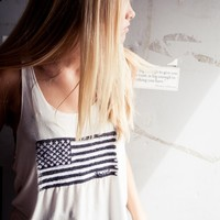 CINDY FLAG EMBROIDERY TANK