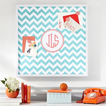 Magnetic Wall Art, Pool Chevron with Pink Magenta