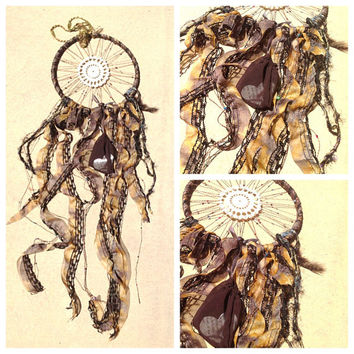 Dreamcatcher with dream sack and sequins by TheLittleBigShop