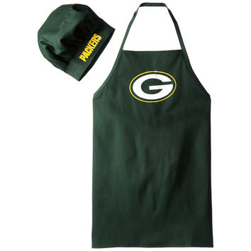 Green Bay Packers NFL Barbeque Apron and Chef's Hat