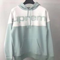 Best Online Sale Supreme 17FW Blocked Hooded  Sweatshirt #3