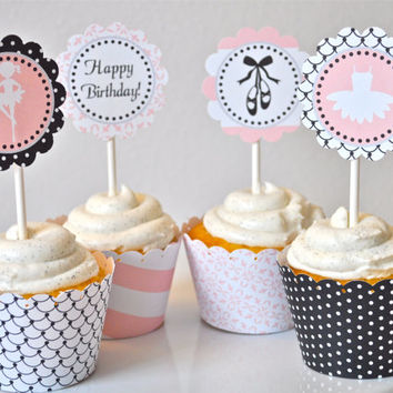 Ballet Cupcake Toppers: INSTANT DOWNLOAD