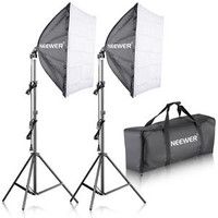 "Neewer 24""x24""/60x60cm Softbox Lighting Kit for Portraits,Product Photography"