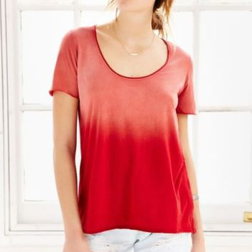 Truly Madly Deeply Sun Faded Scoop-Neck