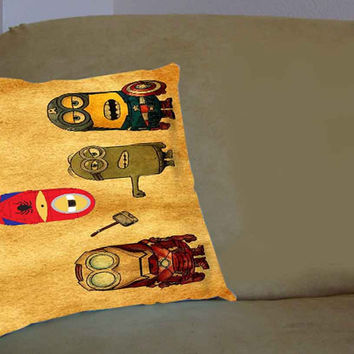 Despicable Me Minion Avenger - Pillow Case, Pillow Cover, Custom Pillow Case **