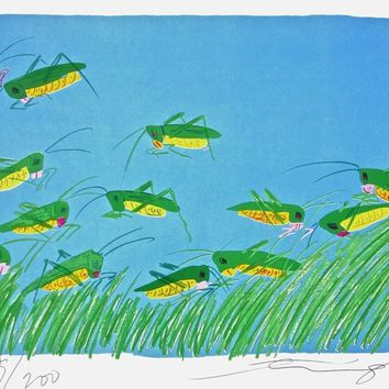 Lucky Grasshoppers, Limited Edition Lithograph, Walasse Ting