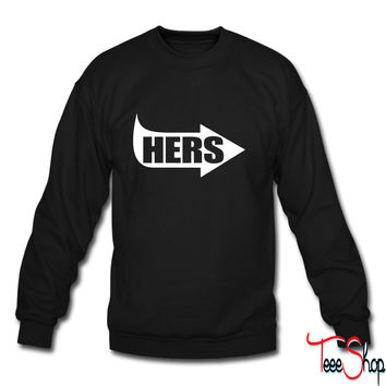 Hers Pointing RIght crewneck sweatshirt