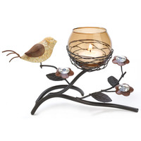 Partridge Nest Tealight Hodler