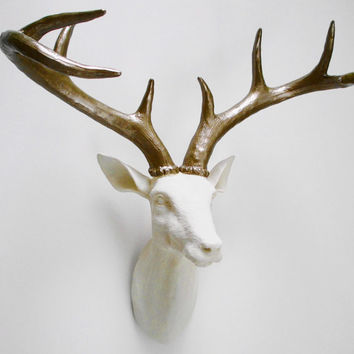 Ivory, Deer Head, Faux Taxidermy, Stag Head, Faux Deer Head, Stag Head Australia, Wall Mount Stag